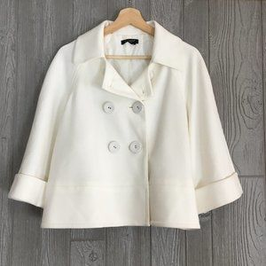 Sandro Sportswear Short Coat White Double Button
